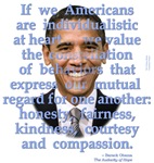 Obama values