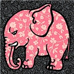 Cute Decorative Pink Elephant