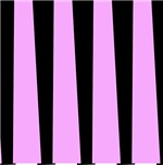 Groovy Pink and Black Stripes