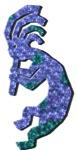 Blue Kokopelli