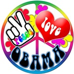 Peace Love Barack Obama
