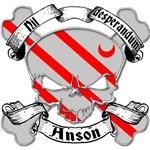 Anson Family Crest Skull