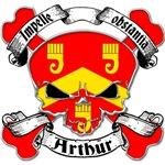 Arthur Family Crest Skull