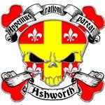 Ashworth Family Crest Skull