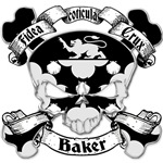 Baker Family Crest Skull