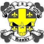 Banks Family Crest Skull