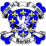 Barker Family Crest Skull
