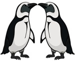 Penguin Kiss