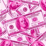 Pink Hundred Dollar Bill Pattern