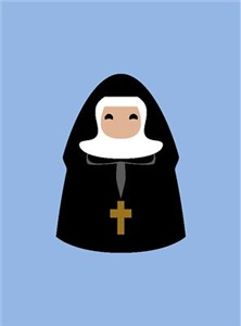 Custom Text Cute Nun