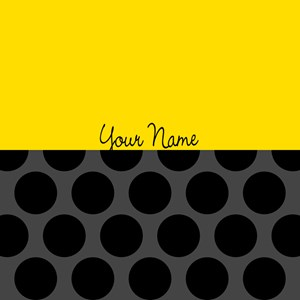 Yellow Solid & Black Dots Customizable