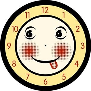 Retro Smiling Clock Face