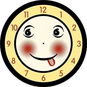 Retro Smiling Clock Face