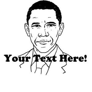 Custom Text Obama