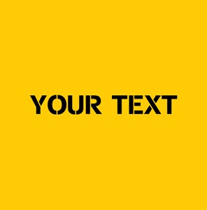 Yellow With Black Stencil Text PERSONALIZED
