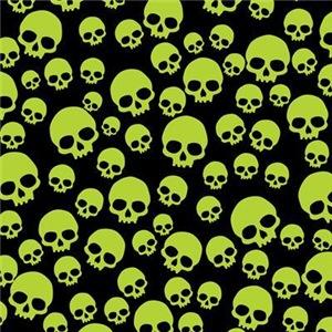 Random Green Skull Pattern