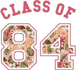 Class Of 84 Pink Floral