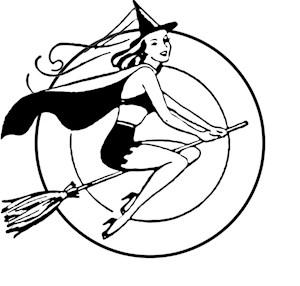 Retro Witch Illustration