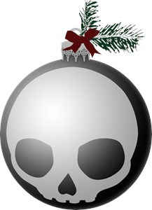 Skull Holiday Ornament