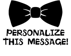 Personalized Cute Bow Tie