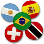 World Flag Mini Buttons