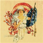 Vintage Patriotic Art T-shirts