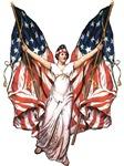 Vintage American Flag Art T-shirts