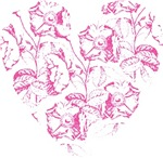Pink Rose Heart T-shirts