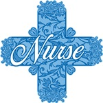 Nurse Pink or Blue Lacy Cross