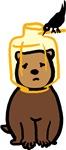 Bird Feeder Bear Cub T-shirts