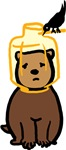 Bird Feeder Bear Cub T-shirts