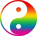 Rainbow Yin Yang T-shirts & Gifts
