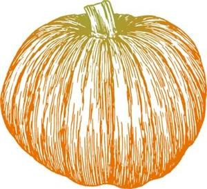 Pumpkin Line Art