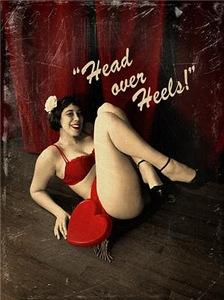 Pin Up Girl Head Over Heels