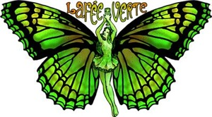 Green Fairy Wings Spread