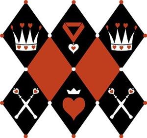 Queen Of Hearts Royal Motifs