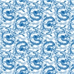 Chinese Dragon Pattern Blue
