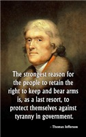 Jefferson, Strongest Reason to be Armed