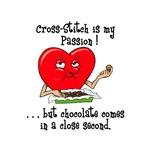 cross-stitch and chocolate