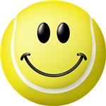 Tennis Ball Smiley Face