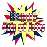Starburst 4th of July t-shirts, flag design gifts