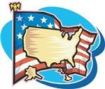 USA Map Tee Shirts
