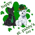 Scottie & Westie St Patrick's Day T-Shirts
