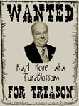 Wanted Karl Rove For Treason
