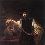 Rembrandt Aristotle and Bust Of Homer