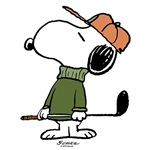 Snoopy Golfer