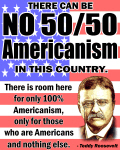 There can be no fifty fifty Americanism