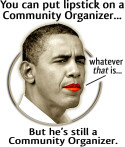 Lipstick on a Community Organizer