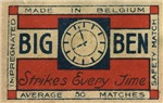 Big Ben Matchbox Label