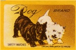Westie + Scottie Matchbox Label